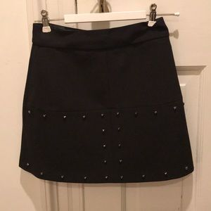 Black Zara skirt with silver studs